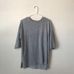 Zara gray marbled top